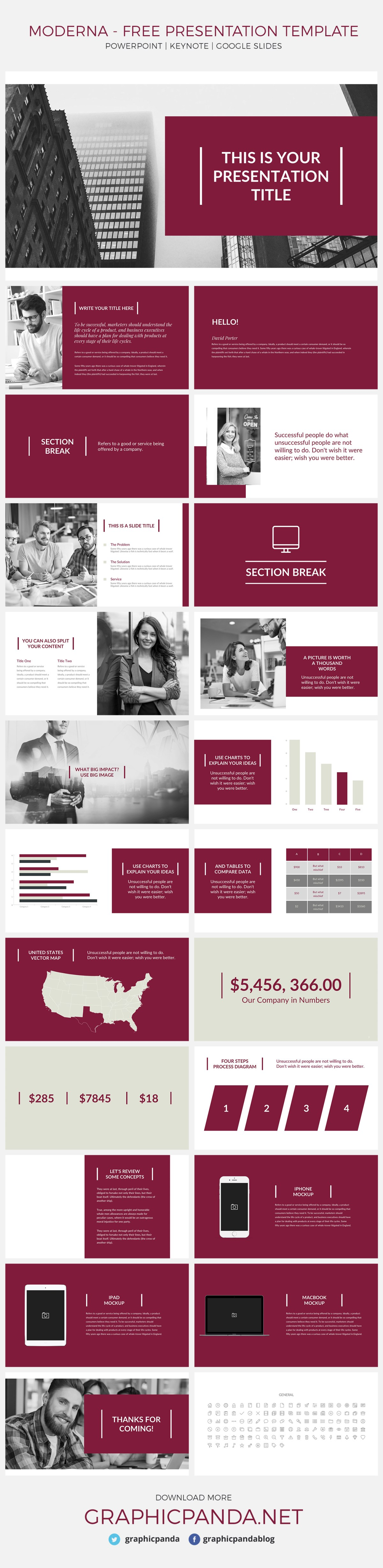 This modern google slides presentation template is unique from any of the others because it makes you look even more professional and helps you to present your data in a more serious way. I am going to highlight some of the specific slides that our designers worked extremely hard on because they all new and going to help you create a successful presentation.