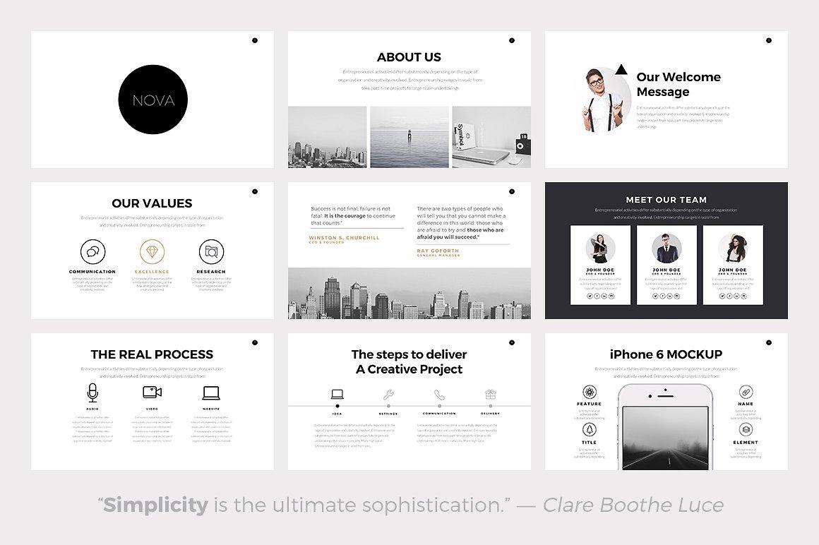 minimalist powerpoint templates - Minimalist Powerpoint Template Free 2