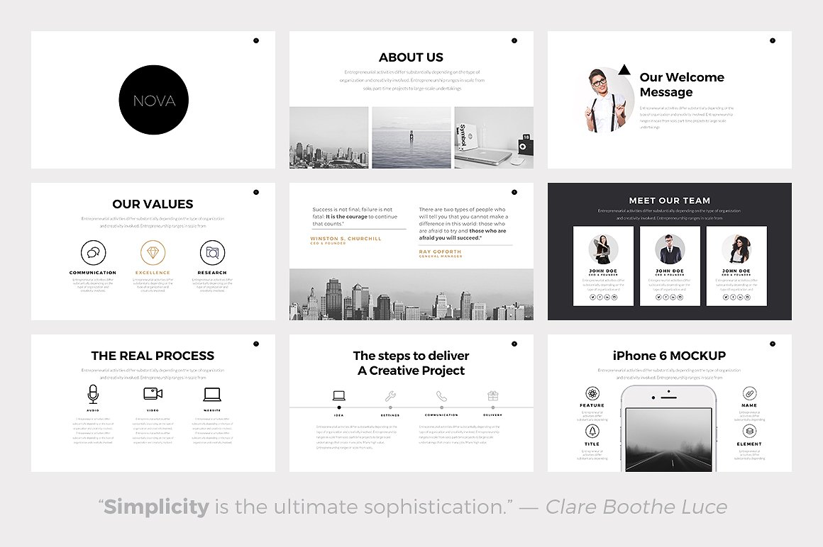 the 24 best minimalist powerpoint templates of 2018, Modern powerpoint