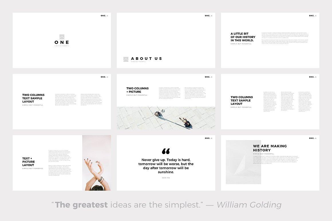 the 24 best minimalist powerpoint templates of 2018, Minimal Presentation Template, Presentation templates