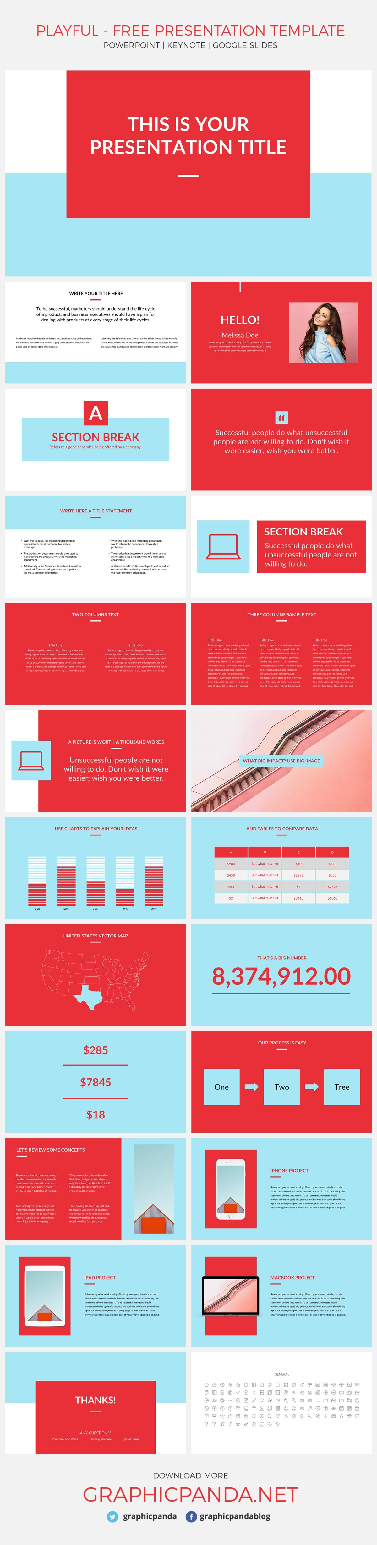 Playful free presentation template powerpoint keynote google slides playful free presentation template for powerpoint apple keynote and google slides is a colorful toneelgroepblik Gallery