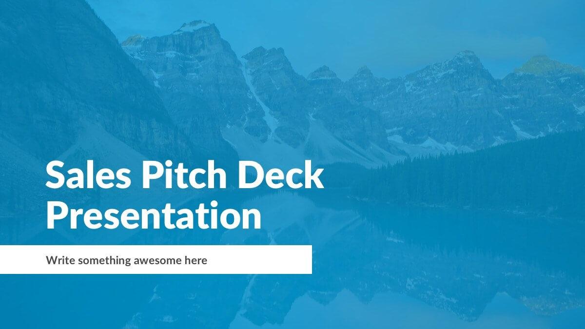 Sales Pitch Deck Presentation