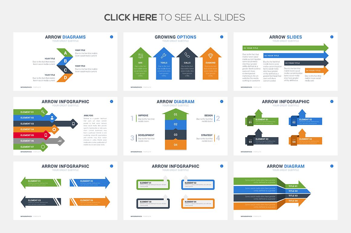 35 arrow infographic template powerpoint keynote google slides