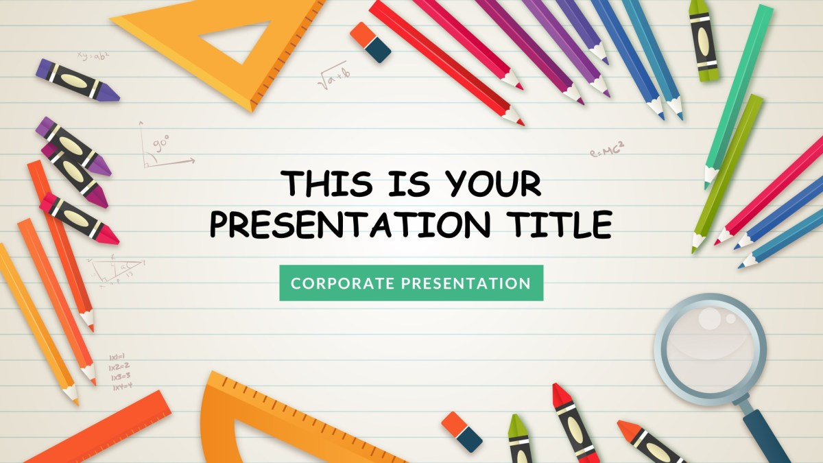kindergarten free google slides keynote theme and powerpoint template