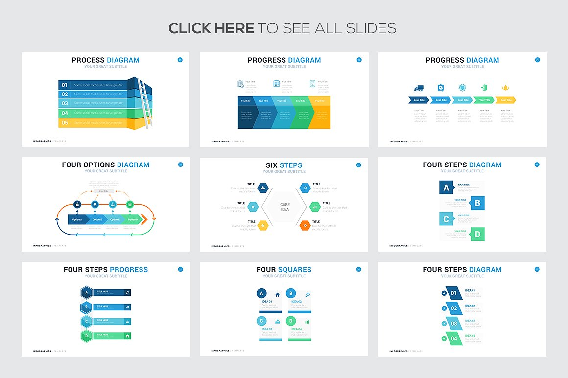 Steps and Process Infographic - PowerPoint Templates - Keynote Themes - Google Slides