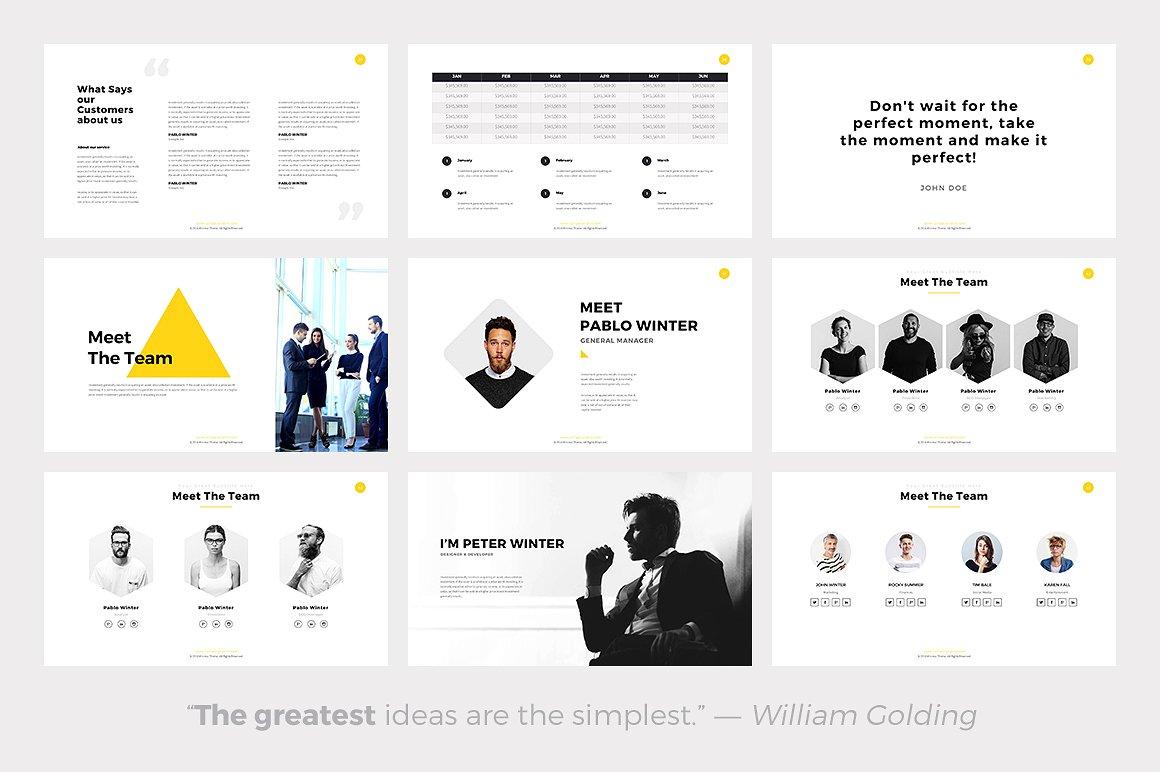 Phlox Minimal - PowerPoint Templates - Keynote Themes - Google Slides