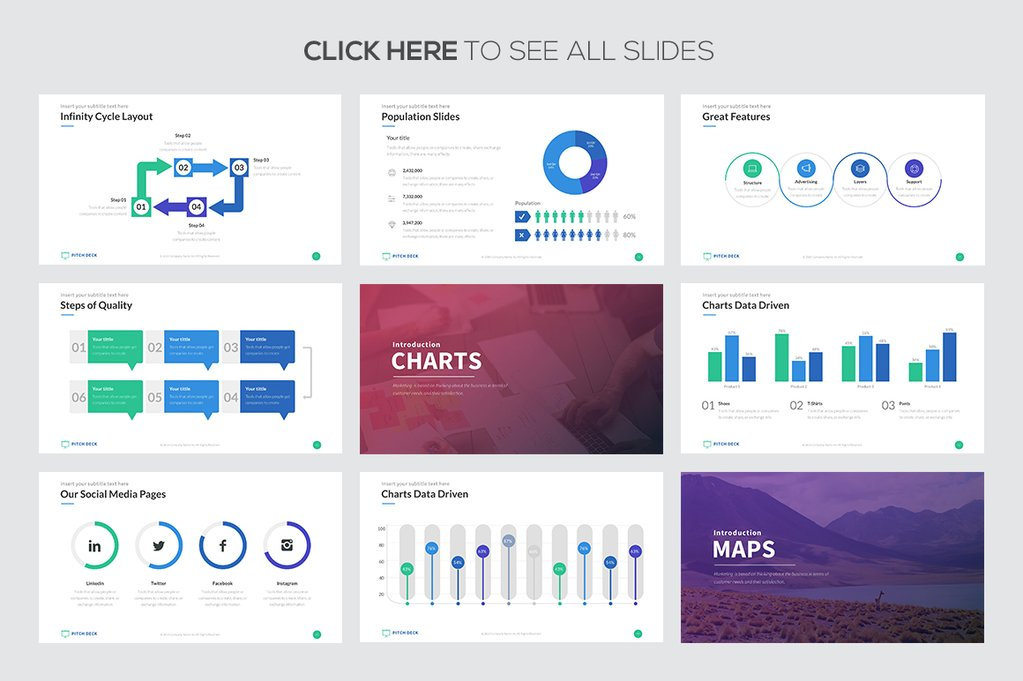 Pitch Deck Pro - PowerPoint Templates - Keynote Themes - Google Slides