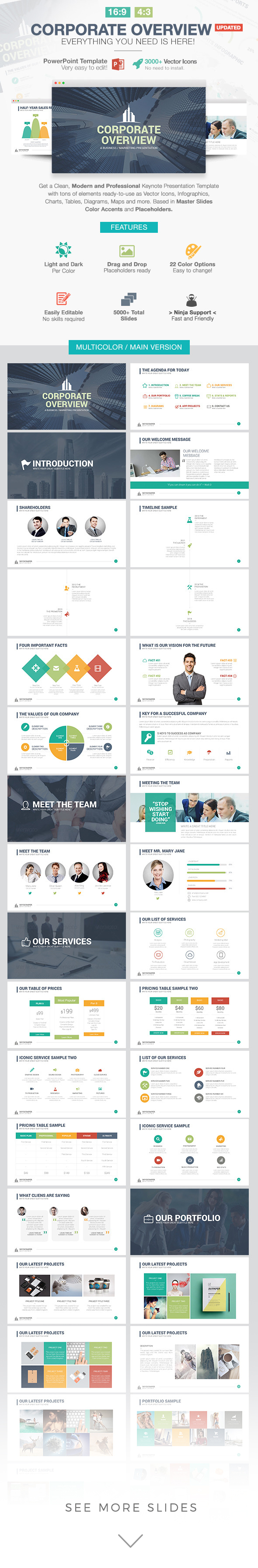 Corporate Overview PowerPoint Template, Keynote, Google Slides