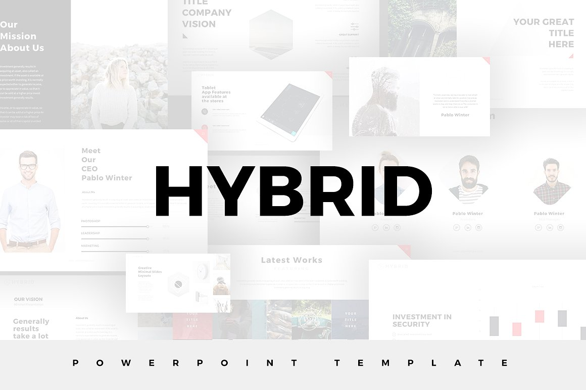 Hybrid minimal powerpoint template alramifo Image collections