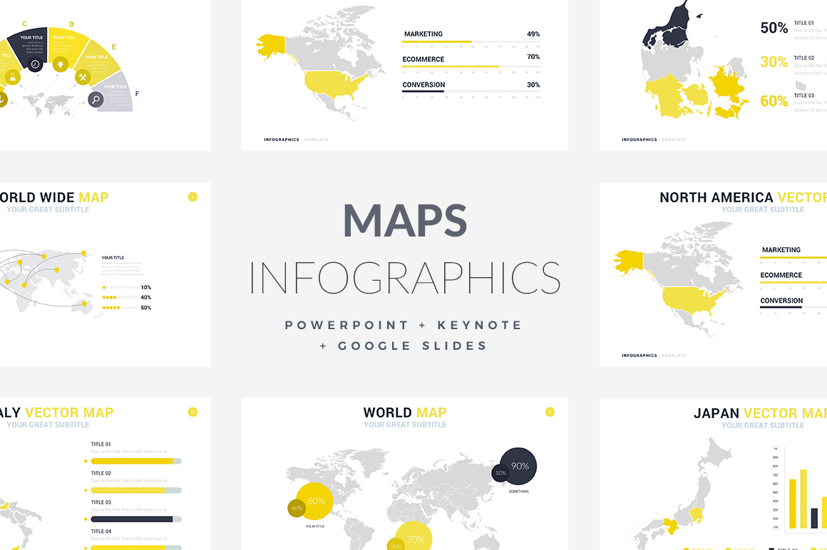 42 maps infographic template powerpoint keynote and google slides maps infographics templates powerpoint templates keynote themes google slidesd toneelgroepblik Gallery