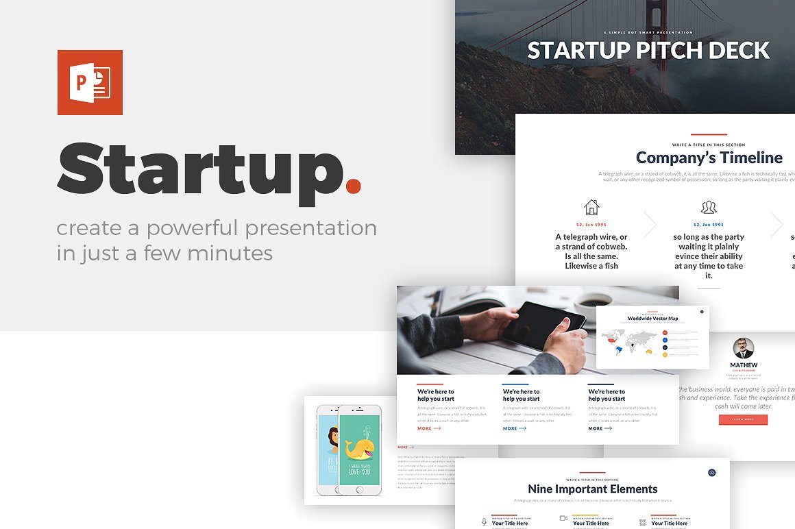 Startup Pitch Deck Powerpoint Template Star Chart Diagram Ppt Keynote Theme Google Slides