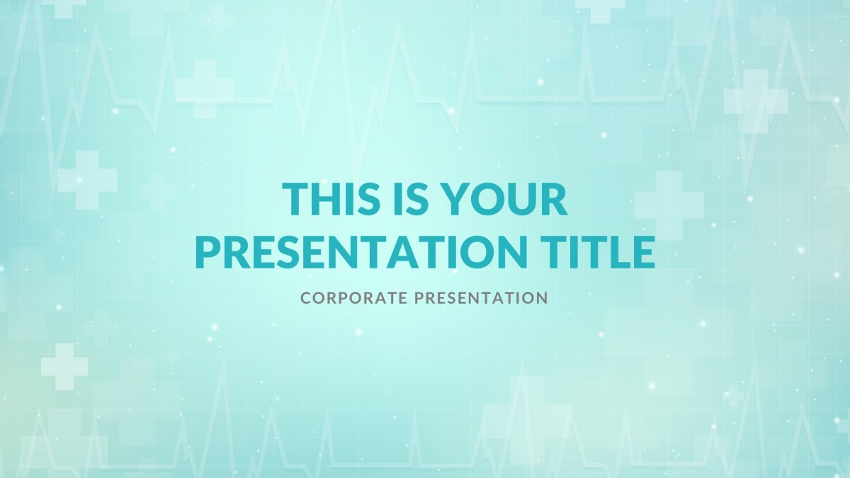 hospital medical free powerpoint template keynote theme google slides