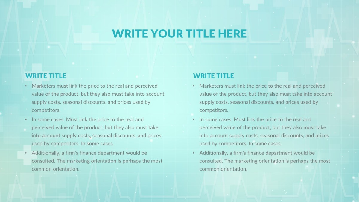 Hospital Medical Free Powerpoint Template Keynote Theme Google Slides