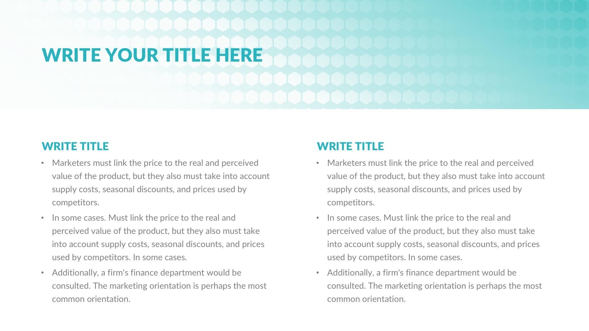 patient presentation template