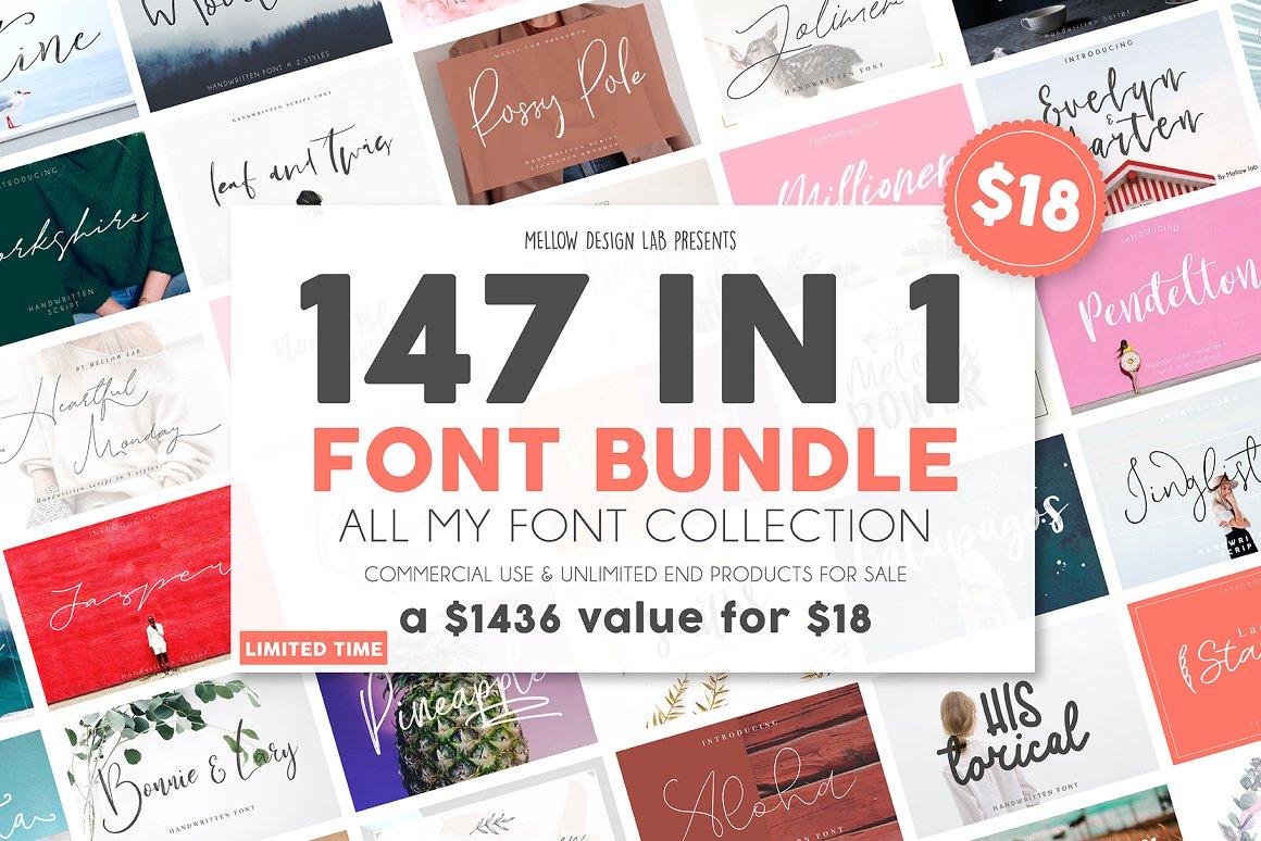 147 IN 1 Font Bundle