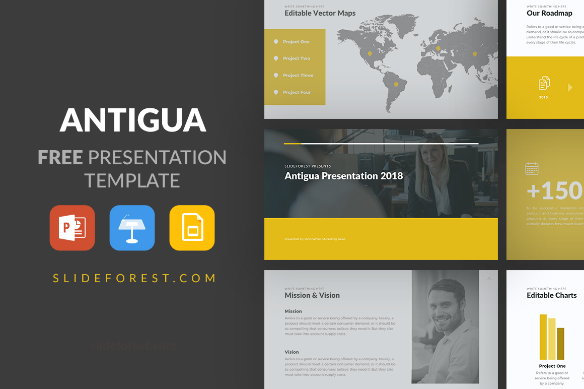 Antigua Free Presentation Template Template - Slideforest