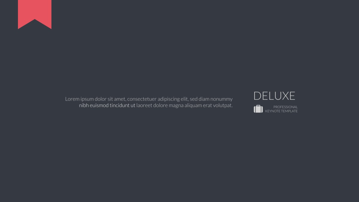 Deluxe | Keynote Business Template