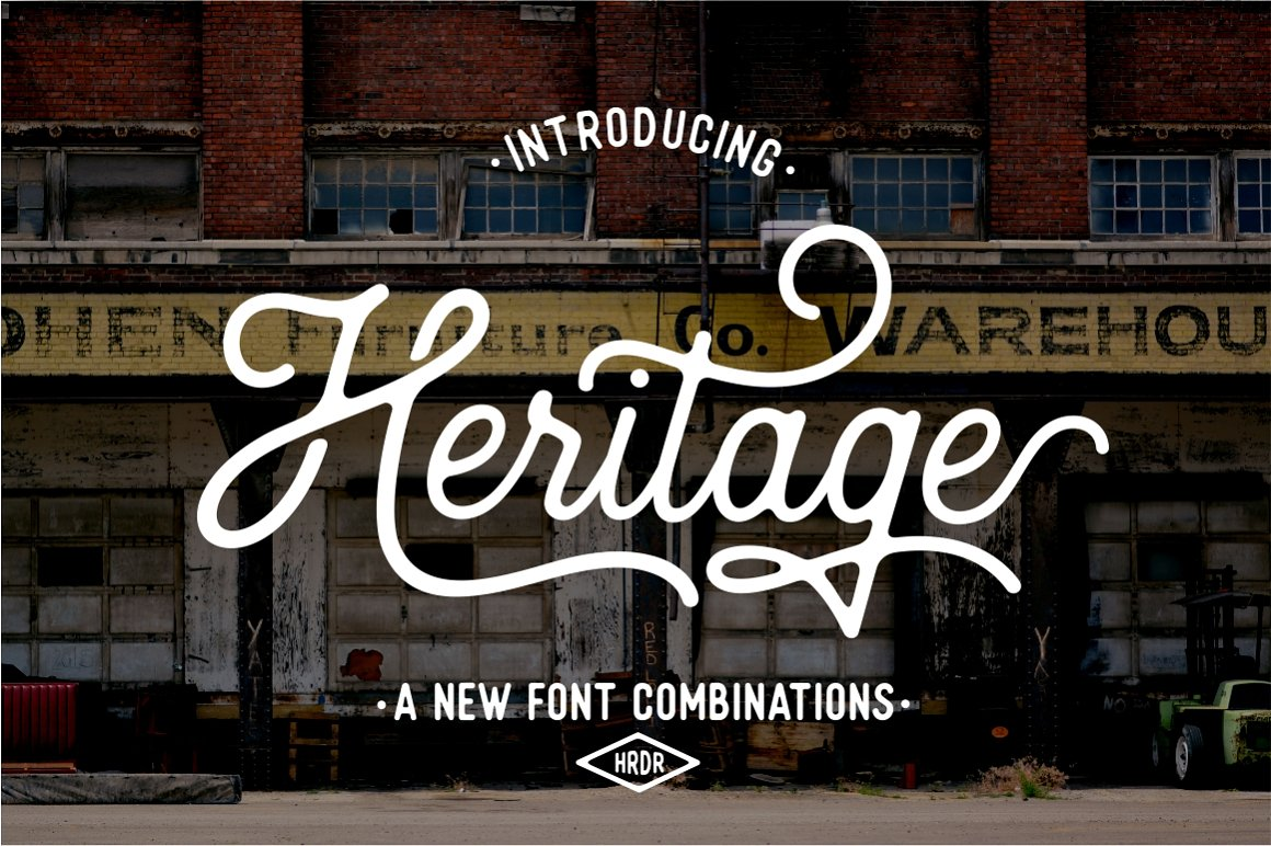 Heritage Font Combinations