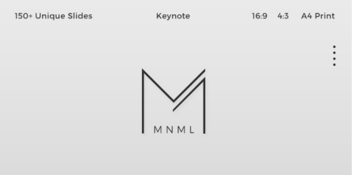 MNML Keynote Template