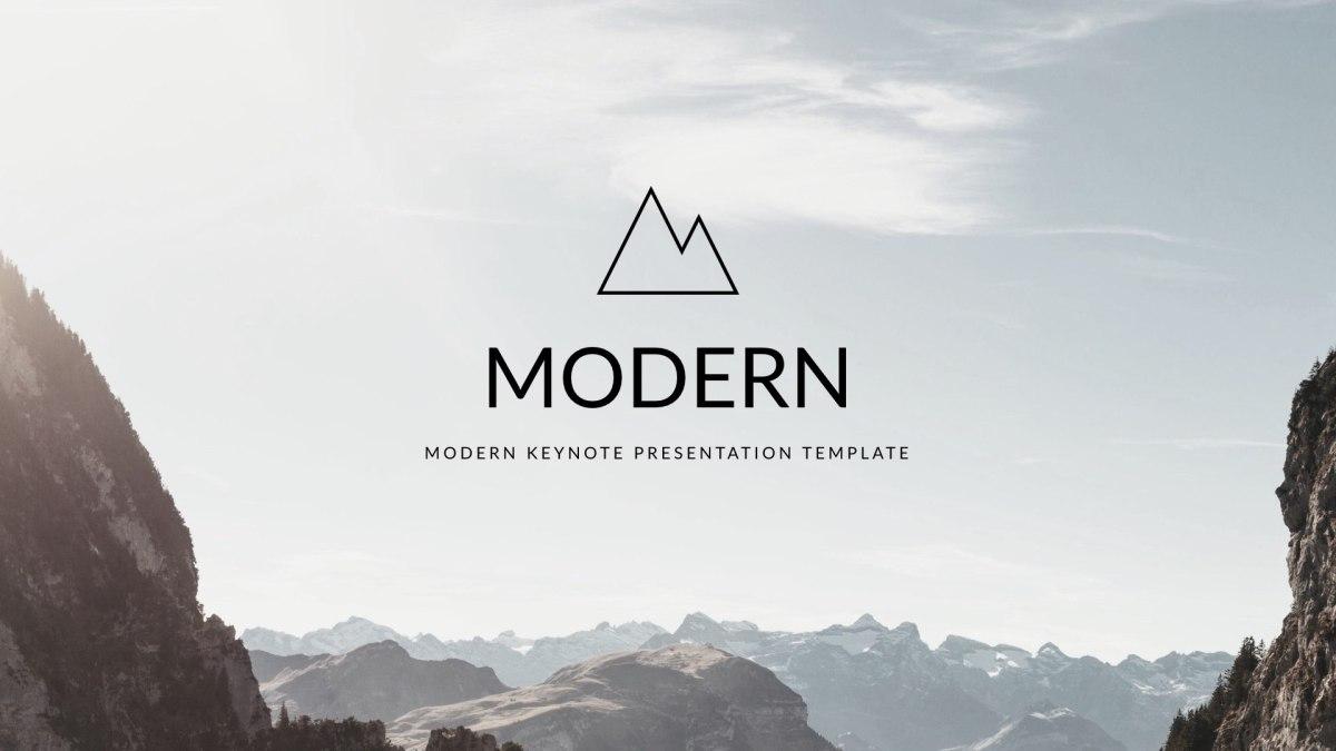 Modern - Clean trend Keynote Template