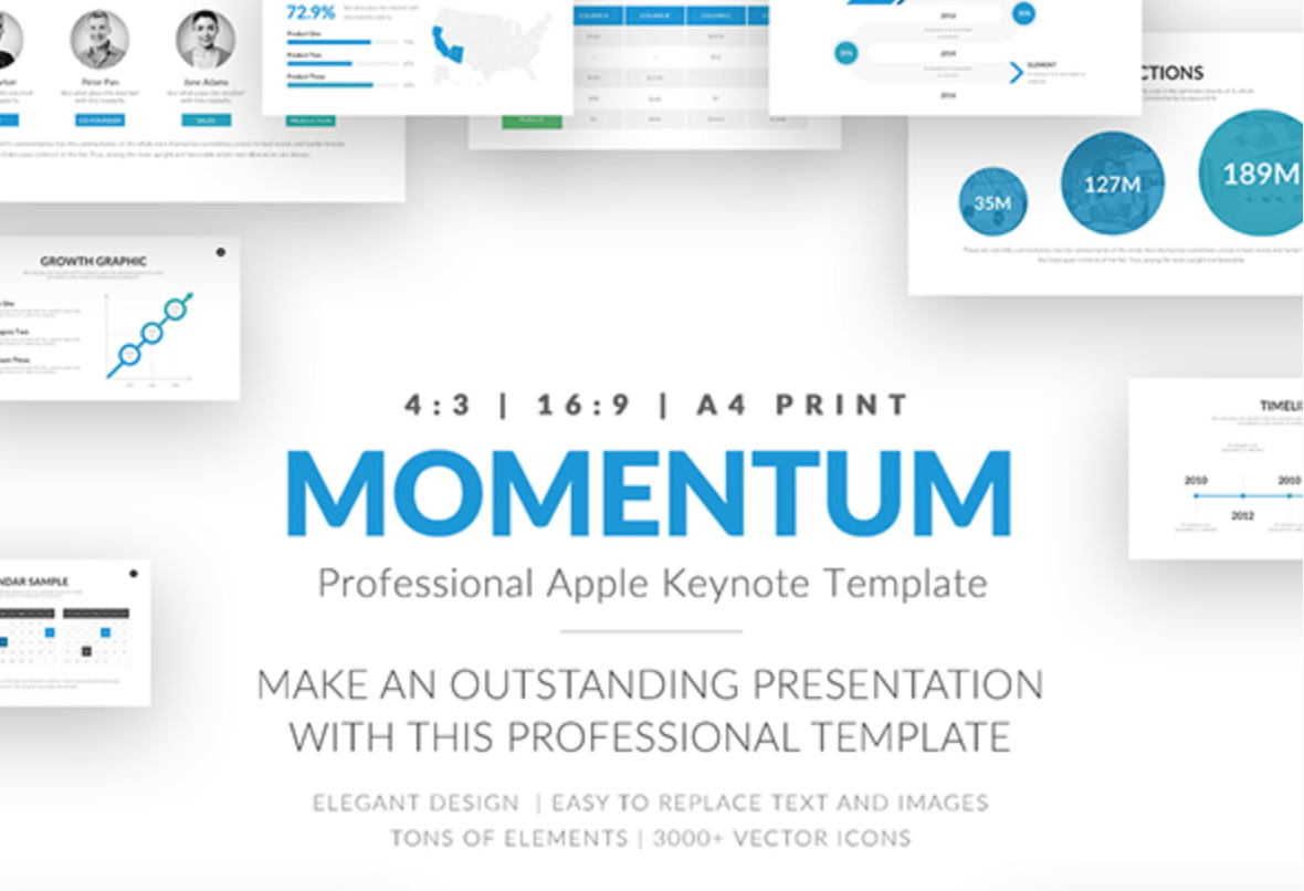 Momentum Professional Business Keynote Theme