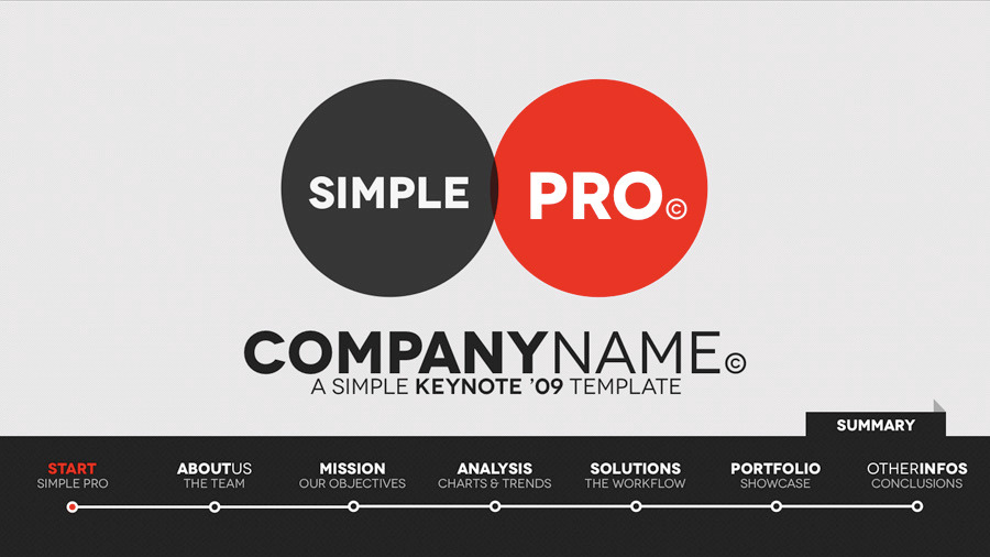 Simple Pro - Keynote Interactive Template