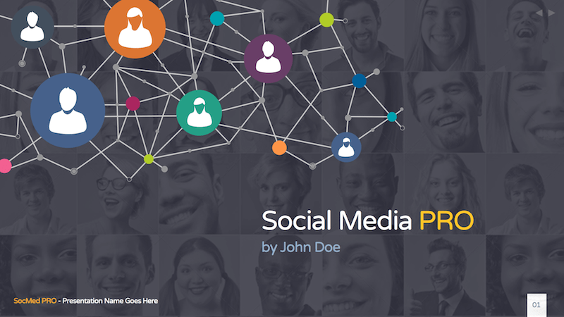 Social Media PRO - Keynote Template
