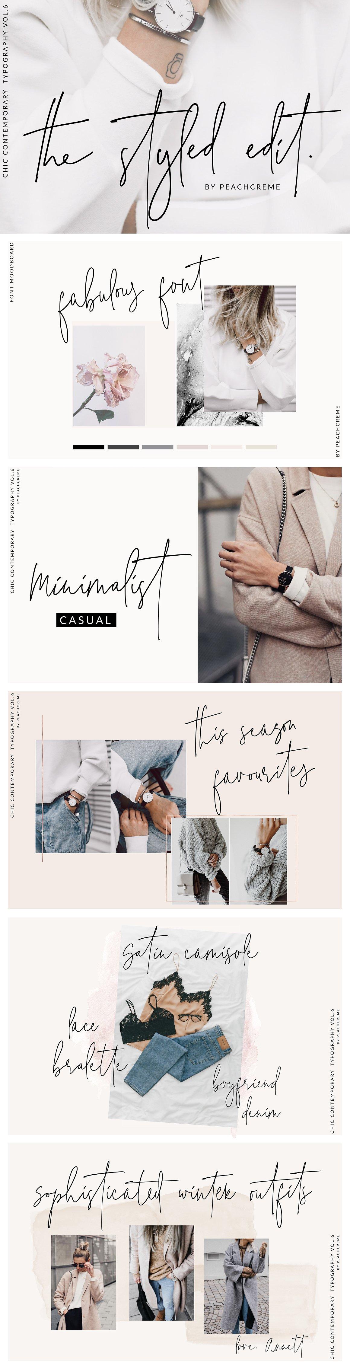 Th Styled Edit-Chic Ligature Font