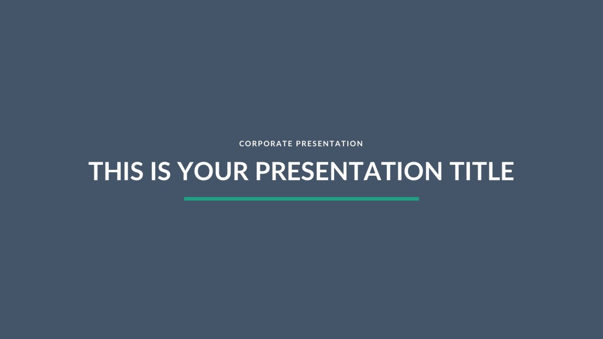 Turquoise Business Free PowerPoint Template, Keynote Theme, Google Slides