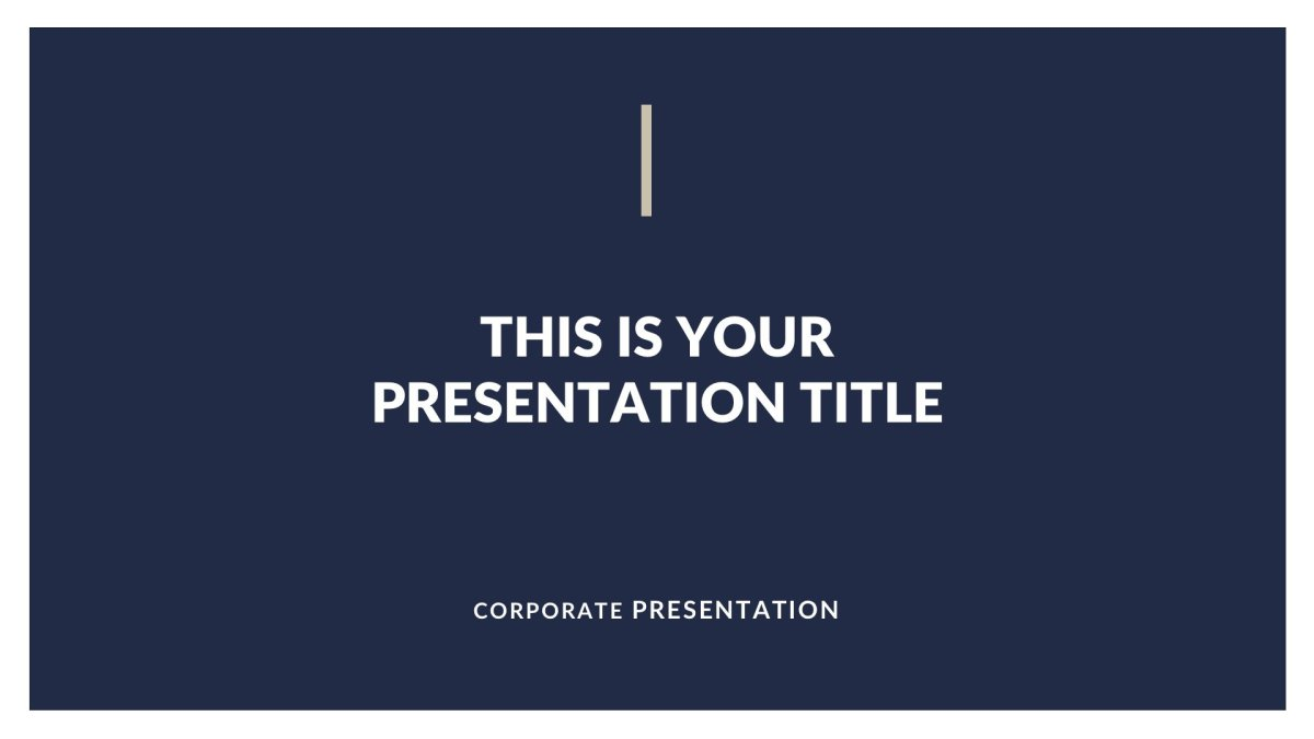 Classy Business Free PowerPoint Template