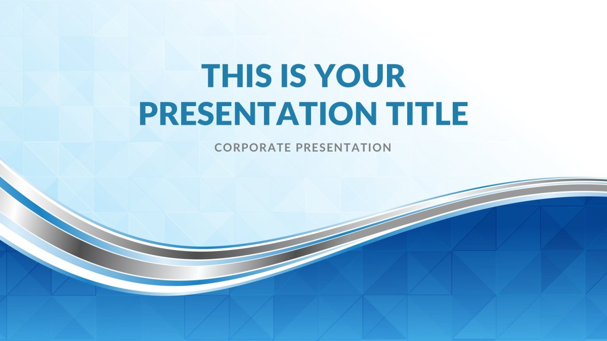 Waves Real Estate Free PowerPoint Template