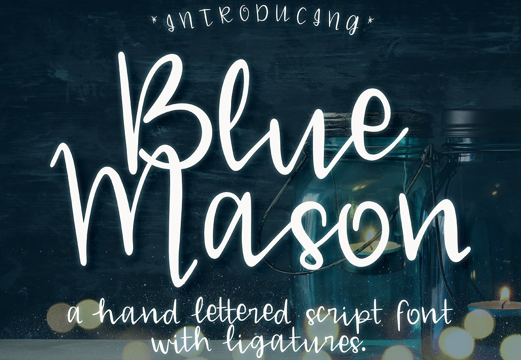Blue Mason - Free Script Font