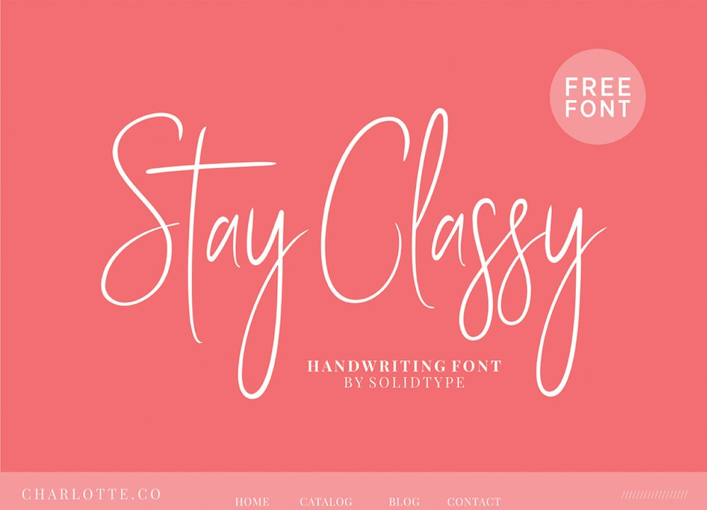 Stay Classy - Free Script Font