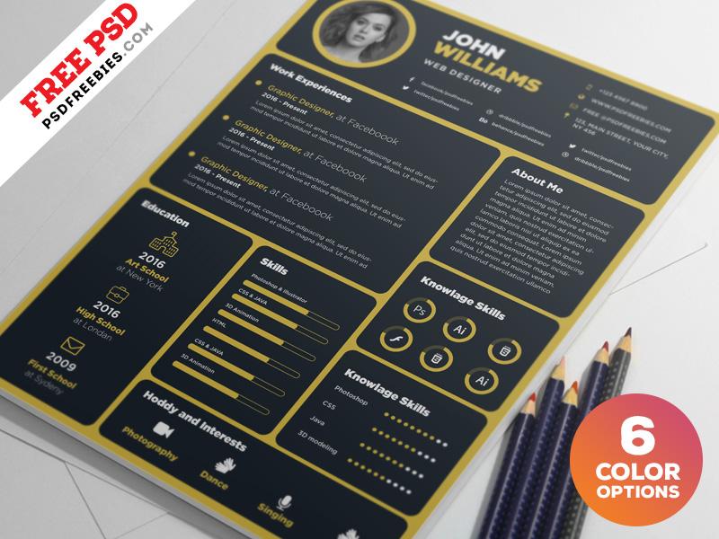 Designer Resume Template PSD