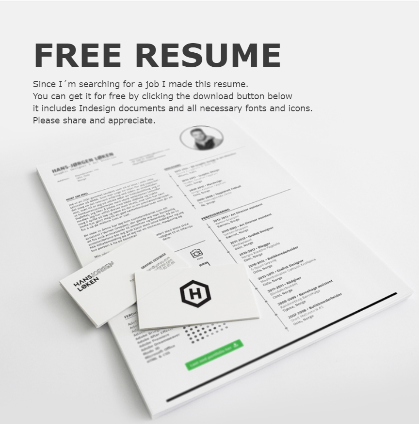 Free Adobe Indesign Resume Template CV