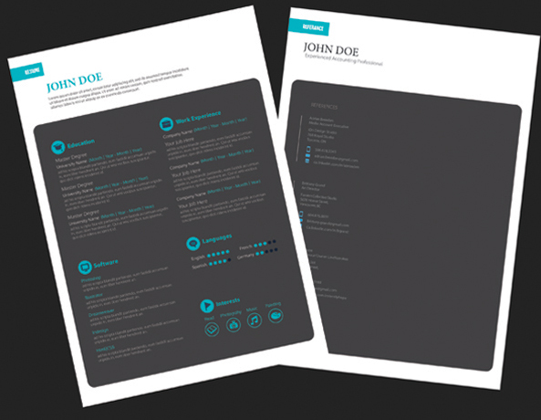 Free Black Resume Design Template