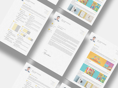 Free CV Resume Set Template (INDD, PSD, PDF)