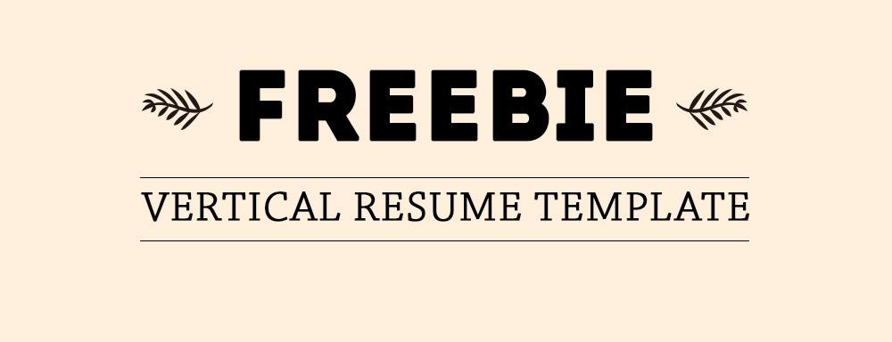 Freebie - Vertical Resume Template