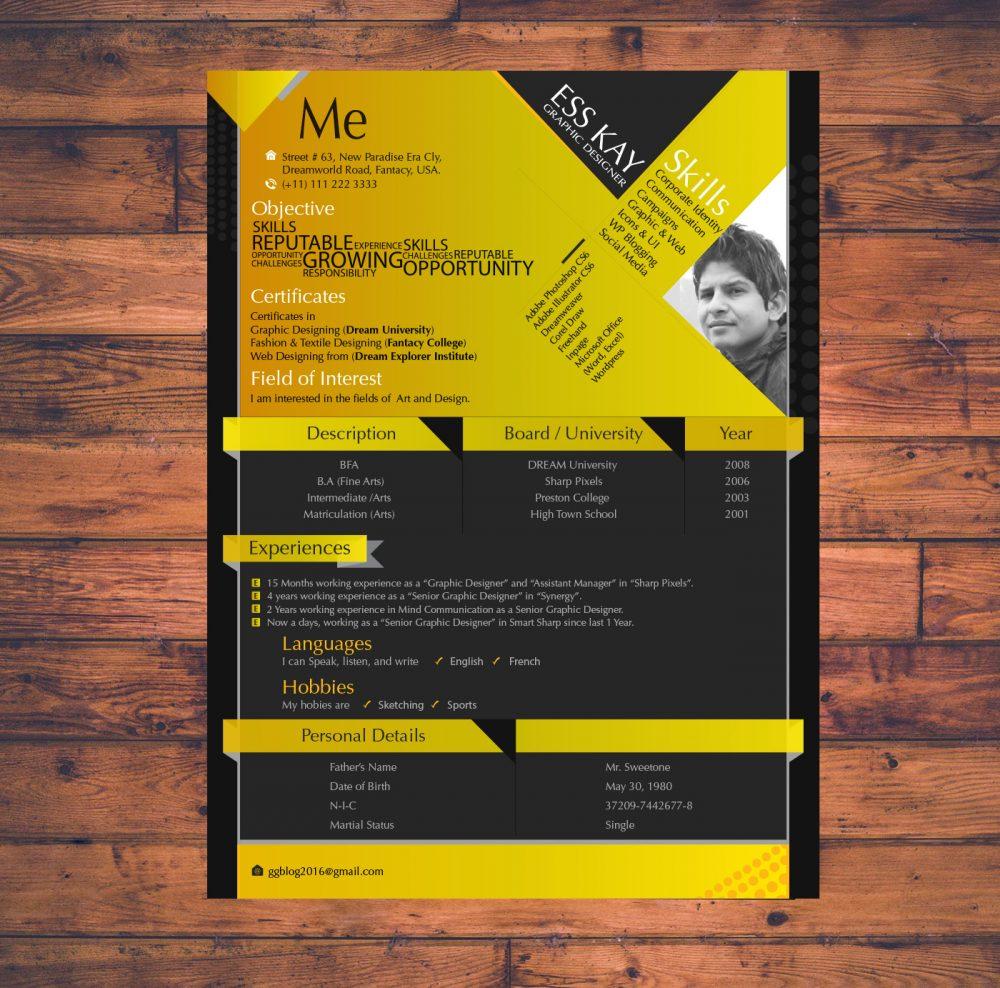 75 Best Free Resume Templates Of 2018 - Graphic-designer-resume-template