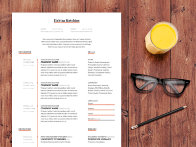 Simple Timeline Resume Template (INDD)