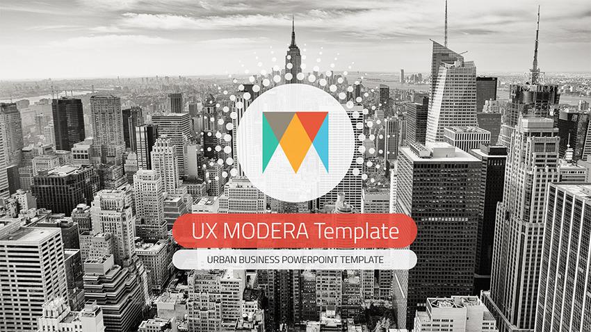 UX Moderna PowerPoint Template