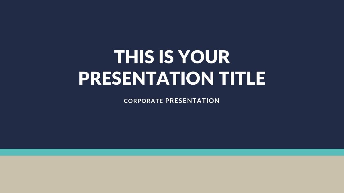 01 Achor Business Free PowerPoint Template, Keynote Theme, Google Slides