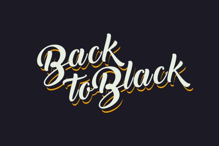 01 - Back to Black Script Font