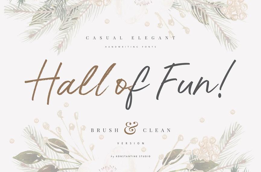 01 - Hall of Fun Script Free Font Demo