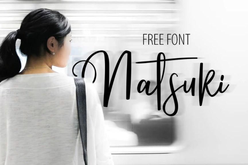 01 - Natsuki Script Font Demo