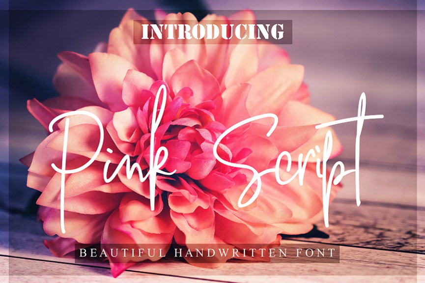01 - Pink Script Free Font Demo
