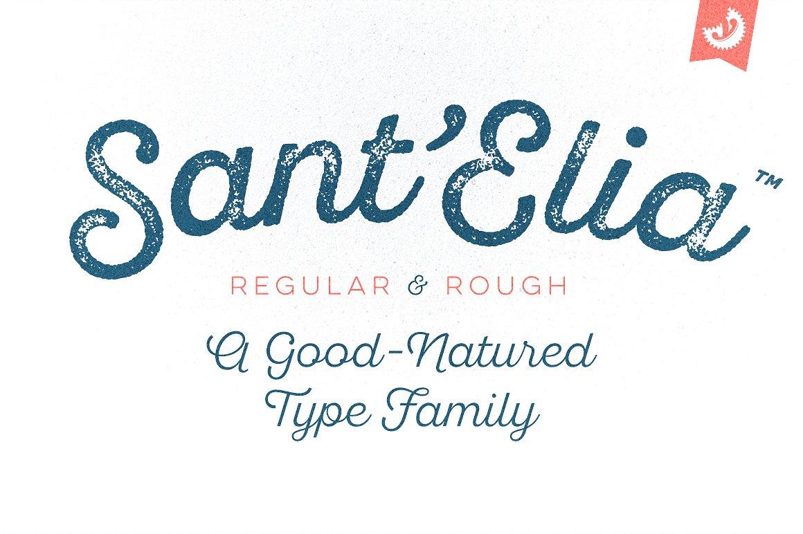 01 - Sant'Elia Script - Free Font Demo