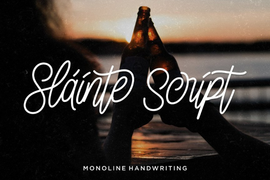 01 - Slainte Script Free Demo Font