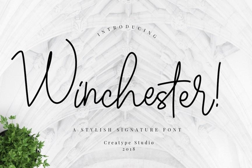 01 - Winchester Script Font Demo