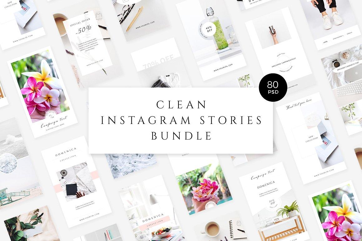 11. Clean Instagram Stories Bundle
